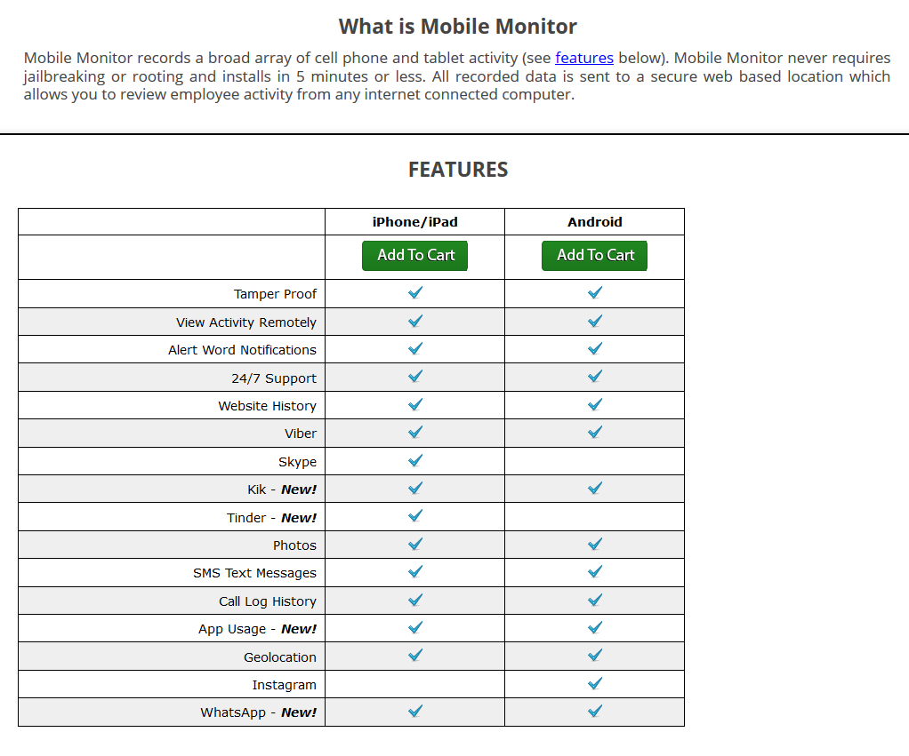 Interguard's Mobile Spying App Features