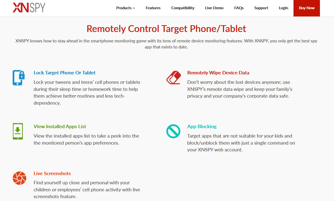 XNSpy Remote Control Features