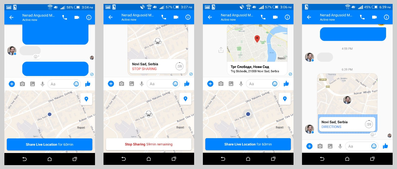 Facebook location sharing steps and options