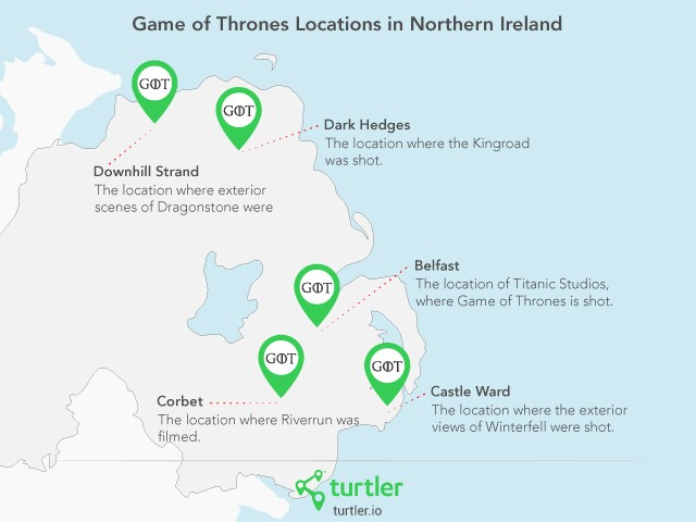 """Game of Thrones"" locations"